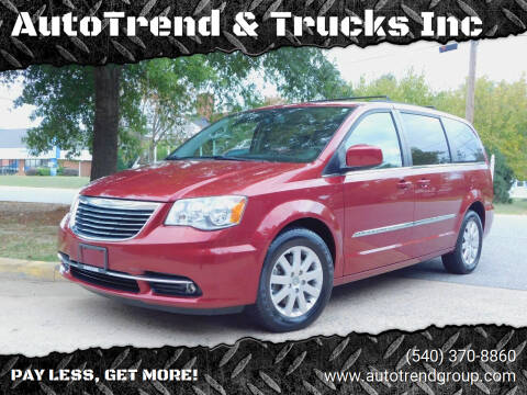 2013 Chrysler Town and Country for sale at AutoTrend & Trucks Inc in Fredericksburg VA