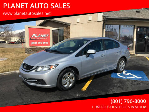 2015 Honda Civic for sale at PLANET AUTO SALES in Lindon UT