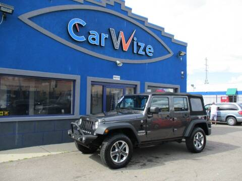 2014 Jeep Wrangler Unlimited for sale at Carwize in Detroit MI