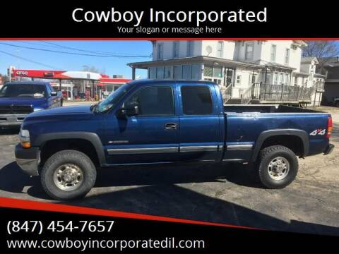 2002 Chevrolet Silverado 2500HD for sale at Cowboy Incorporated in Waukegan IL