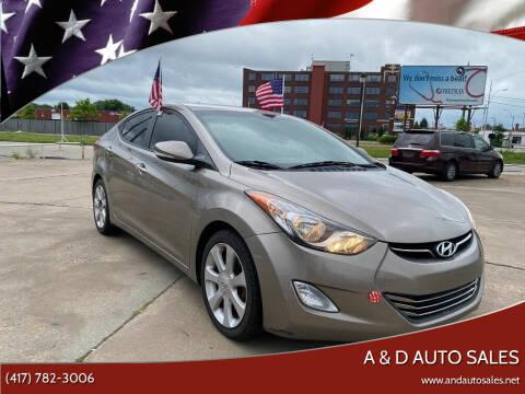 2013 Hyundai Elantra for sale at A & D Auto Sales in Joplin MO
