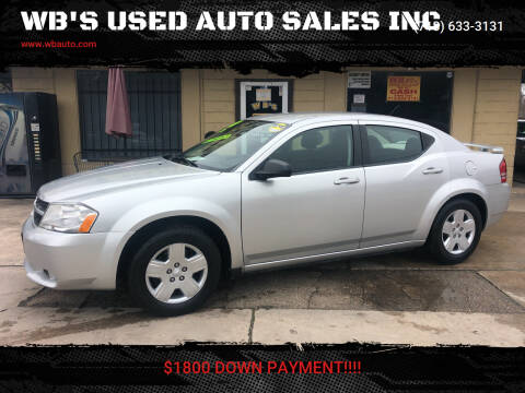 2010 Dodge Avenger for sale at WB'S USED AUTO SALES INC in Houston TX
