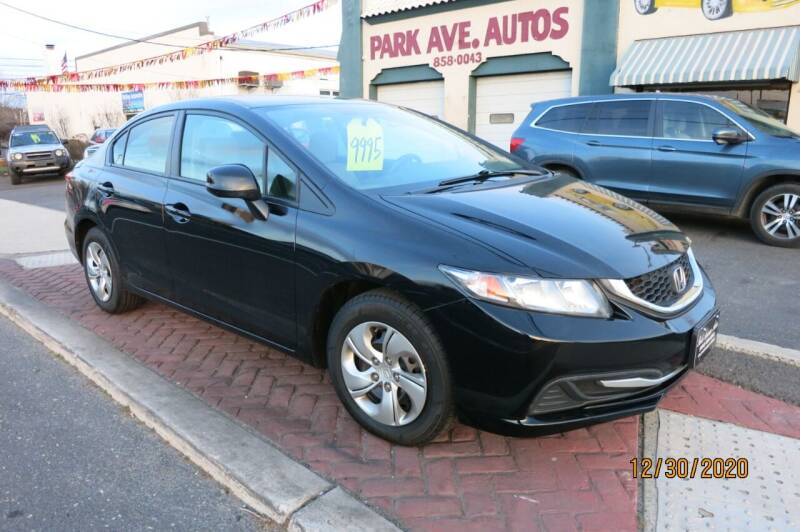 2013 Honda Civic for sale at PARK AVENUE AUTOS in Collingswood NJ