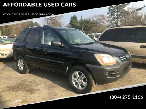 2007 Kia Sportage for sale at AFFORDABLE USED CARS in Richmond VA