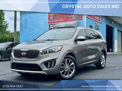 2016 Kia Sorento for sale at Crystal Auto Sales Inc in Nashville TN