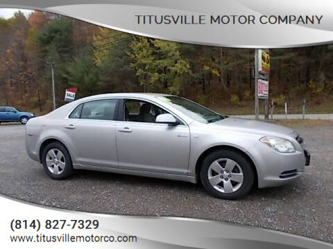 2008 Chevrolet Malibu Hybrid for sale at Titusville Motor Company in Titusville PA
