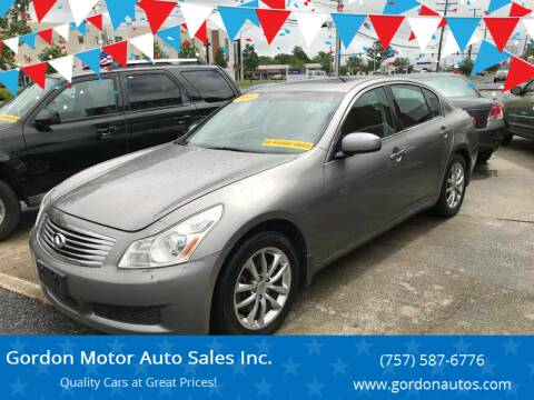 2008 Infiniti G35 for sale at Gordon Motor Auto Sales Inc. in Norfolk VA