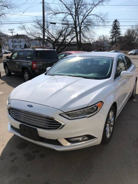 2017 Ford Fusion for sale at Jimmys Auto Sales in North Providence RI