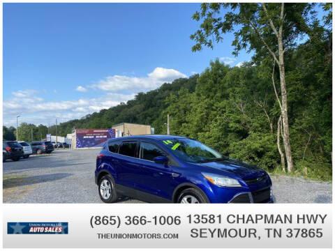 2014 Ford Escape for sale at Union Motors in Seymour TN