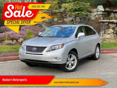 2012 Lexus RX 450h for sale at Mudarri Motorsports in Kirkland WA