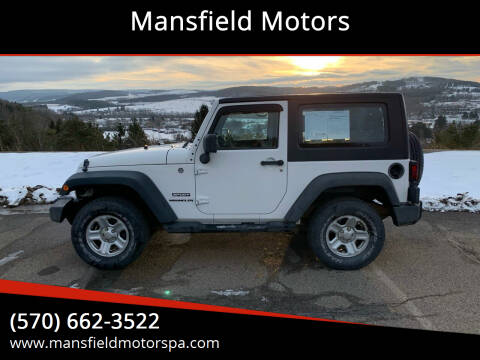 2010 Jeep Wrangler for sale at Mansfield Motors in Mansfield PA