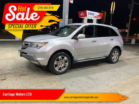 2008 Acura MDX for sale at Carriage Motors LTD in Ingleside IL