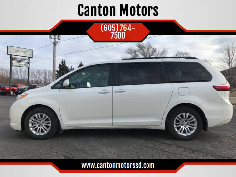2017 Toyota Sienna for sale at Canton Motors in Canton SD