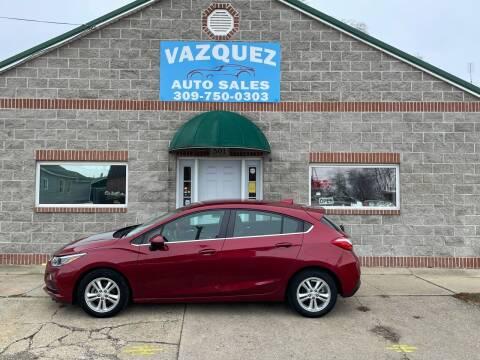 2017 Chevrolet Cruze for sale at VAZQUEZ AUTO SALES in Bloomington IL