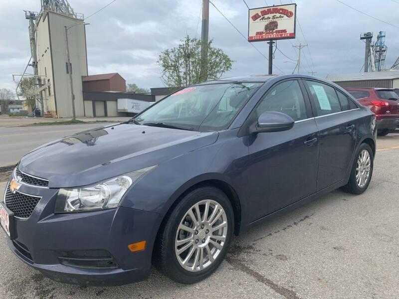 2013 Chevrolet Cruze for sale at El Rancho Auto Sales in Des Moines IA