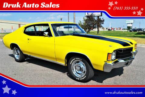 1972 Chevrolet Malibu for sale at Druk Auto Sales in Ramsey MN