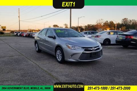 2016 Toyota Camry for sale at Exit 1 Auto in Mobile AL