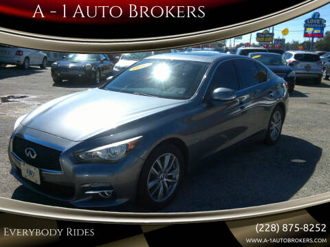 2015 Infiniti Q50 for sale at A - 1 Auto Brokers in Ocean Springs MS