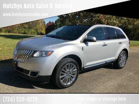 2012 Lincoln MKX for sale at Hutchys Auto Sales & Service in Loyalhanna PA