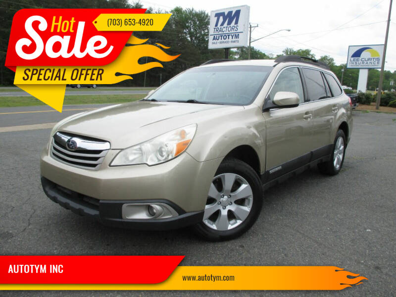2010 Subaru Outback for sale at AUTOTYM INC in Fredericksburg VA