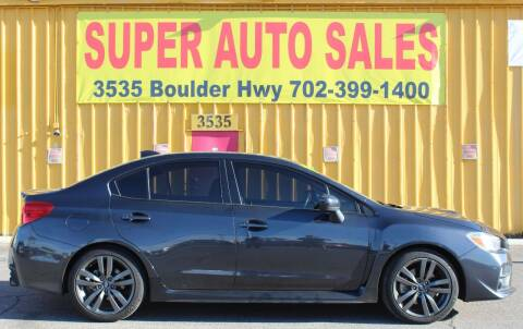 2016 Subaru WRX for sale at Super Auto Sales in Las Vegas NV