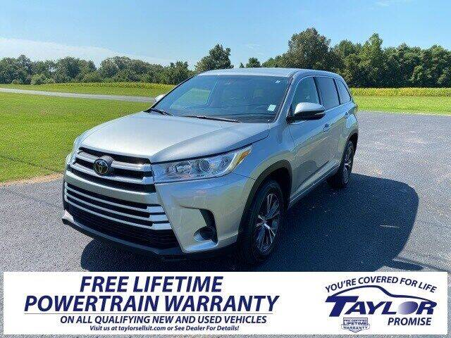 2018 Toyota Highlander for sale at Taylor Automotive in Martin TN
