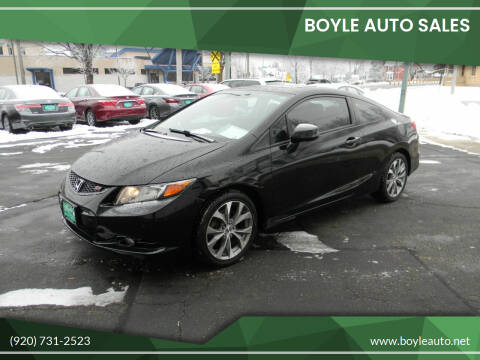 2012 Honda Civic for sale at Boyle Auto Sales in Appleton WI