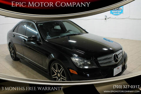 2013 Mercedes-Benz C-Class for sale at Epic Motor Company in Chantilly VA