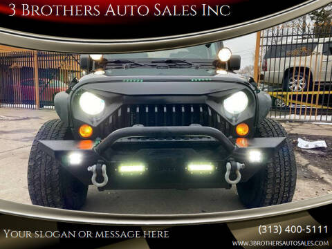 2012 Jeep Wrangler for sale at 3 Brothers Auto Sales Inc in Detroit MI