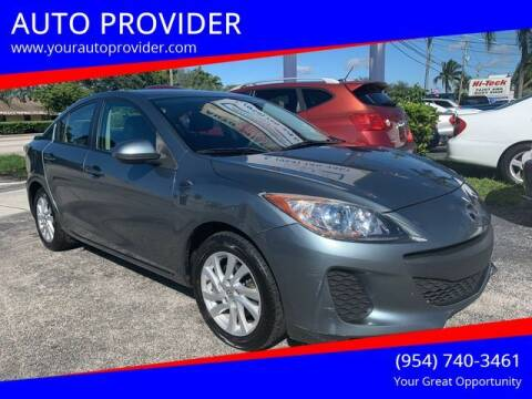 2012 Mazda MAZDA3 for sale at AUTO PROVIDER in Fort Lauderdale FL