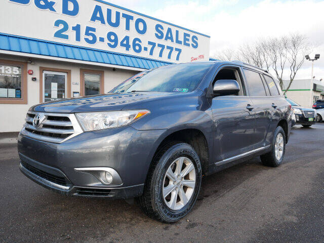 2012 Toyota Highlander for sale at B & D Auto Sales Inc. in Fairless Hills PA