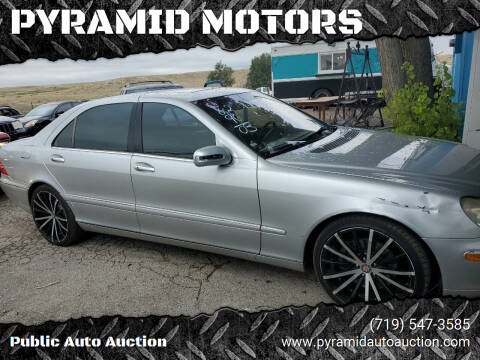 2003 Mercedes-Benz S-Class for sale at PYRAMID MOTORS - Pueblo Lot in Pueblo CO
