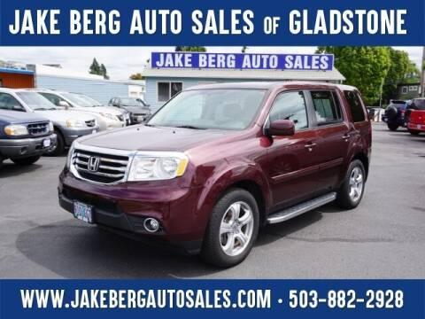 2013 Honda Pilot for sale at Jake Berg Auto Sales in Gladstone OR