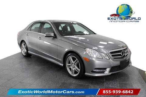 2013 Mercedes-Benz E-Class for sale at Exotic World Motor Cars in Addison TX