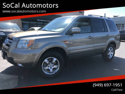 2008 Honda Pilot for sale at SoCal Automotors in Costa Mesa CA