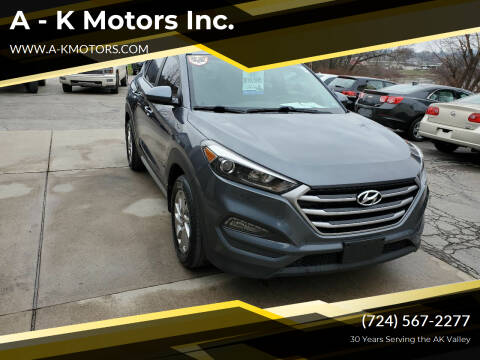 2017 Hyundai Tucson for sale at A - K Motors Inc. in Vandergrift PA