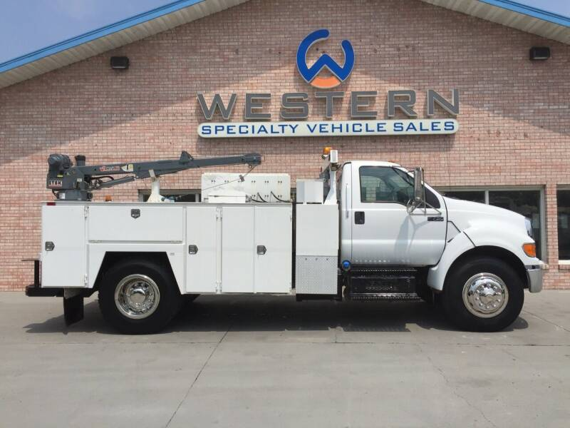 2011 Ford F750 Service Truck for sale at Western Specialty Vehicle Sales in Braidwood IL