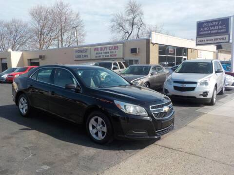 2013 Chevrolet Malibu for sale at Gregory J Auto Sales in Roseville MI