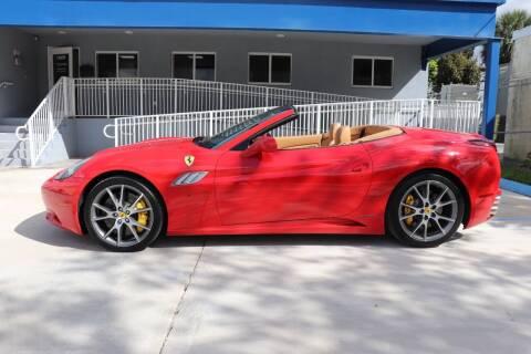 2013 Ferrari California for sale at PERFORMANCE AUTO WHOLESALERS in Miami FL