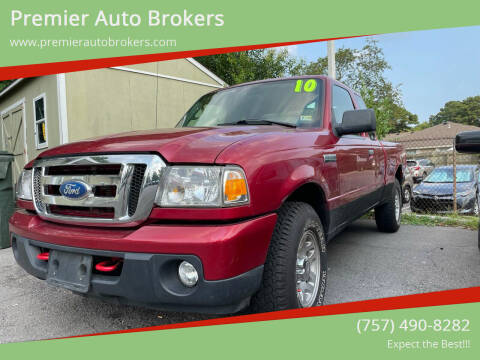 2010 Ford Ranger for sale at Premier Auto Brokers in Virginia Beach VA