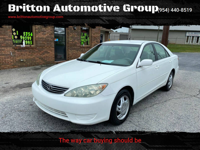 2005 Toyota Camry for sale at Britton Automotive Group in Loganville GA