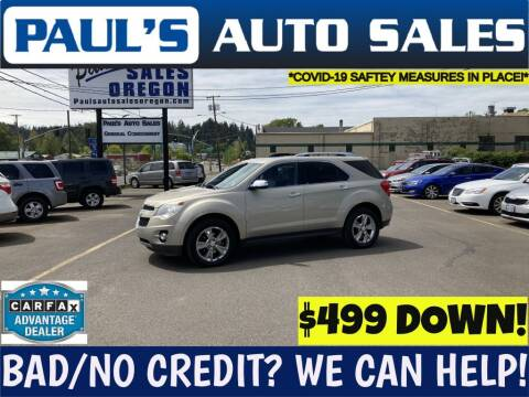 2011 Chevrolet Equinox for sale at Paul's Auto Sales in Eugene OR