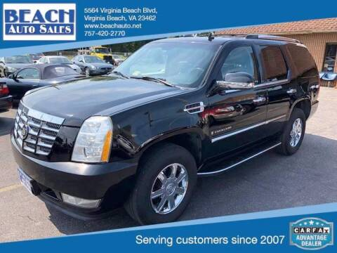 2007 Cadillac Escalade for sale at Beach Auto Sales in Virginia Beach VA