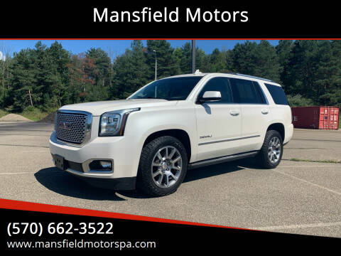 2015 GMC Yukon for sale at Mansfield Motors in Mansfield PA