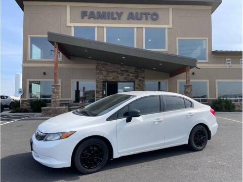 2012 Honda Civic for sale at Moses Lake Family Auto Center in Moses Lake WA