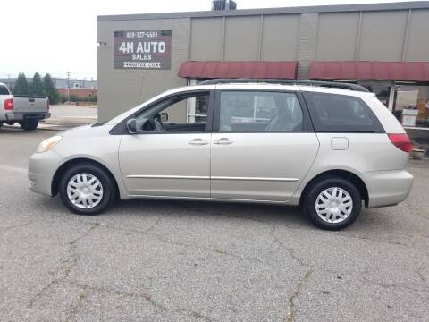 2005 Toyota Sienna for sale at 4M Auto Sales | 828-327-6688 | 4Mautos.com in Hickory NC