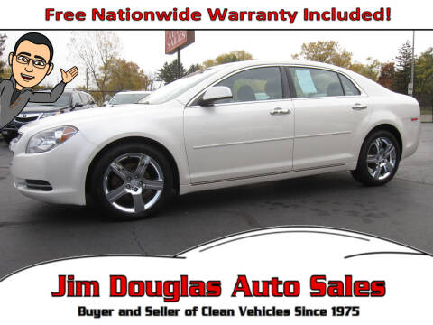 2012 Chevrolet Malibu for sale at Jim Douglas Auto Sales in Pontiac MI