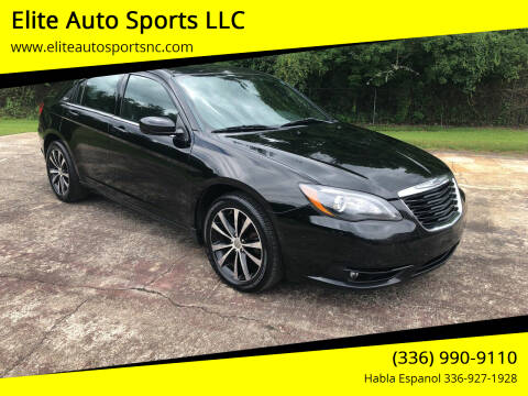 2013 Chrysler 200 for sale at Elite Auto Sports LLC in Wilkesboro NC