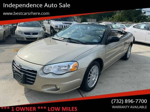 2005 Chrysler Sebring for sale at Independence Auto Sale in Bordentown NJ