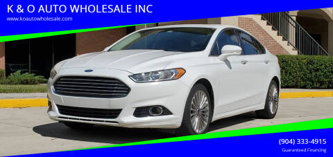 2014 Ford Fusion for sale at K & O AUTO WHOLESALE INC in Jacksonville FL